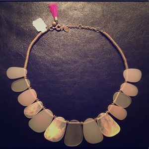 LOFT Oversized Stone Statement Necklace